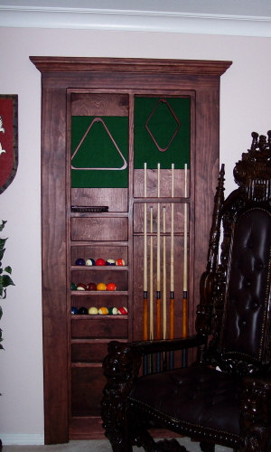 Hidden Door Made From Billiard Rack