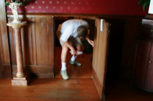 Hidden Room Behind Small Door in Stone Manor