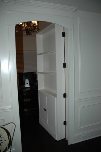 Bookshelf Door Opens to Reveal Hidden Office