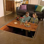 Hidden Dining Room in Floor
