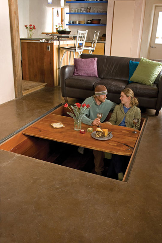 Secret Sunken Dining Room Table