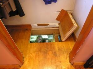 Hidden Trap Door to Basement Play Room