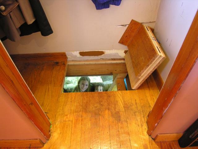 Secret Door Opens To Basement Stashvault