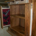 Bookcase Hase Multiple Gun Storage Drawers