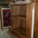 Bookcase Hase Multiple Gun Storage Drawers