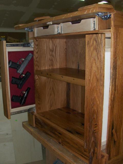 Gun room ideas on pinterest gun storage secret gun Secret drawer
