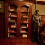 Bookshelf Doors and Suit of Armor