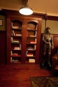 Bookshelf Doors and Suit of Armor