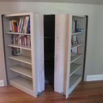 Moving Bookshelves Use InvisiDoor Hardware