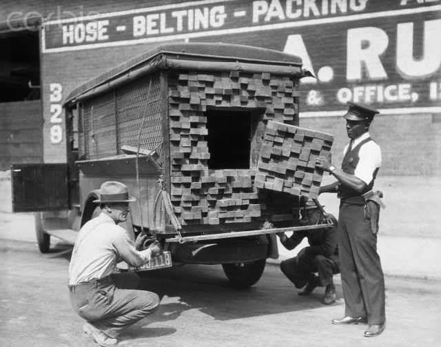 Lumber Truck with Hidden Moonshine Compartment
