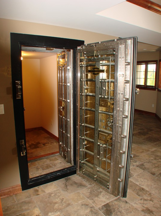 Private residential vault stashvault for Garage safe room