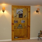 Custom Wood Buil-in Bookshelf Door