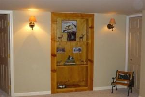 Custom Wood Buil-in Bookshelf Door