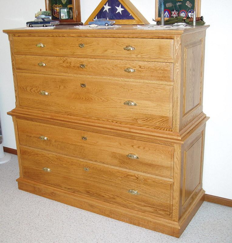 Dresser with concealed gun rack stashvault Secret drawer