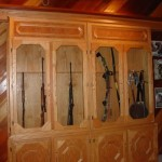 Firing Range Hidden Behind Sliding Gun Cabinet Door