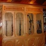Firing Range Hidden Behind Sliding Gun Cabinet Door