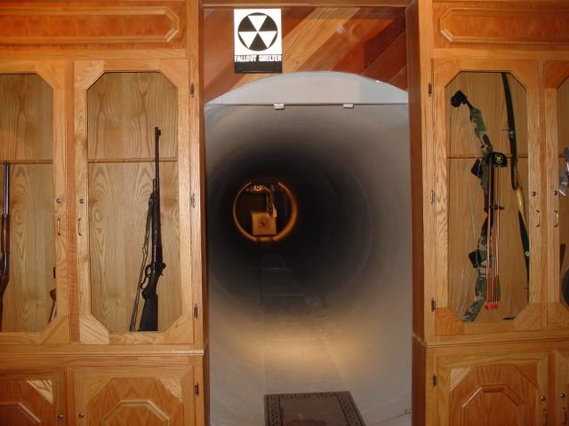 Gun Cabinet Door Reveals Hidden Firing Range