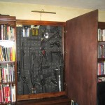 Gun Storage in Hidden Library Cabinet