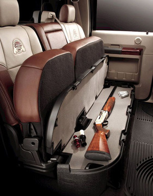 Hidden Long Gun Compartment Under Seat of Pickup Truck