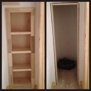 Hidden Bookcase Door Conceals Gun Closet