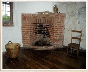 Secret Entrance to Priest Hole in Fake Chimney