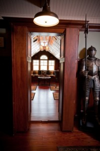 Bookcase Doors Open Up to Secret Office Space