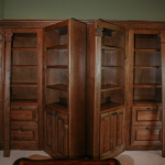 Hidden Double Bookcase Doors in Library