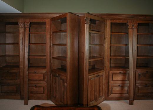 Double Bookcase Doors in Library