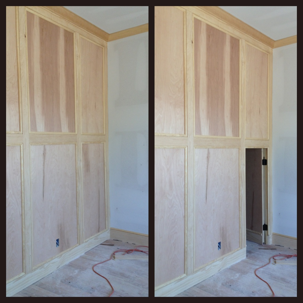 Secret room behind hidden wall panel stashvault for Door in the wall