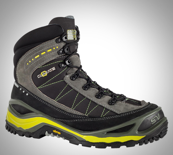 Hiking Boot with Hidden Fire Starter Kit