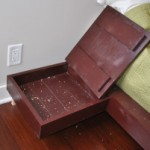 Secret Storage Compartment Under Top of Homemade Nightstand