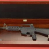 Concealed Long Gun Storage Under Picture
