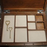 Tray of Jewelry Box with Custom Secret Compartment