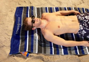 Hidden Stash Pockets in Beach Towel