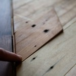 Moveable Piece Reveals Secret Compartment in Wooden Table