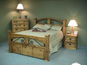 Custom Bed with Hidden Storage Drawer