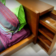 Hidden Drawer in Bed Headboard
