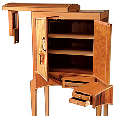 Cabinet with Secret Compartments