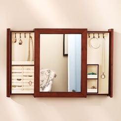 Secret Compartment Jewelry Box Mirror StashVault