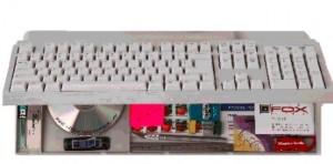 Hidden Organizer Compartment in Keyboard