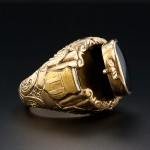Gold Poison Ring with Hidden Compartment