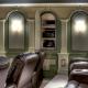 Secret Panel Door in Theater Hides Media Equipment