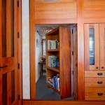 Swing-in Bookshelf Door to Hidden room