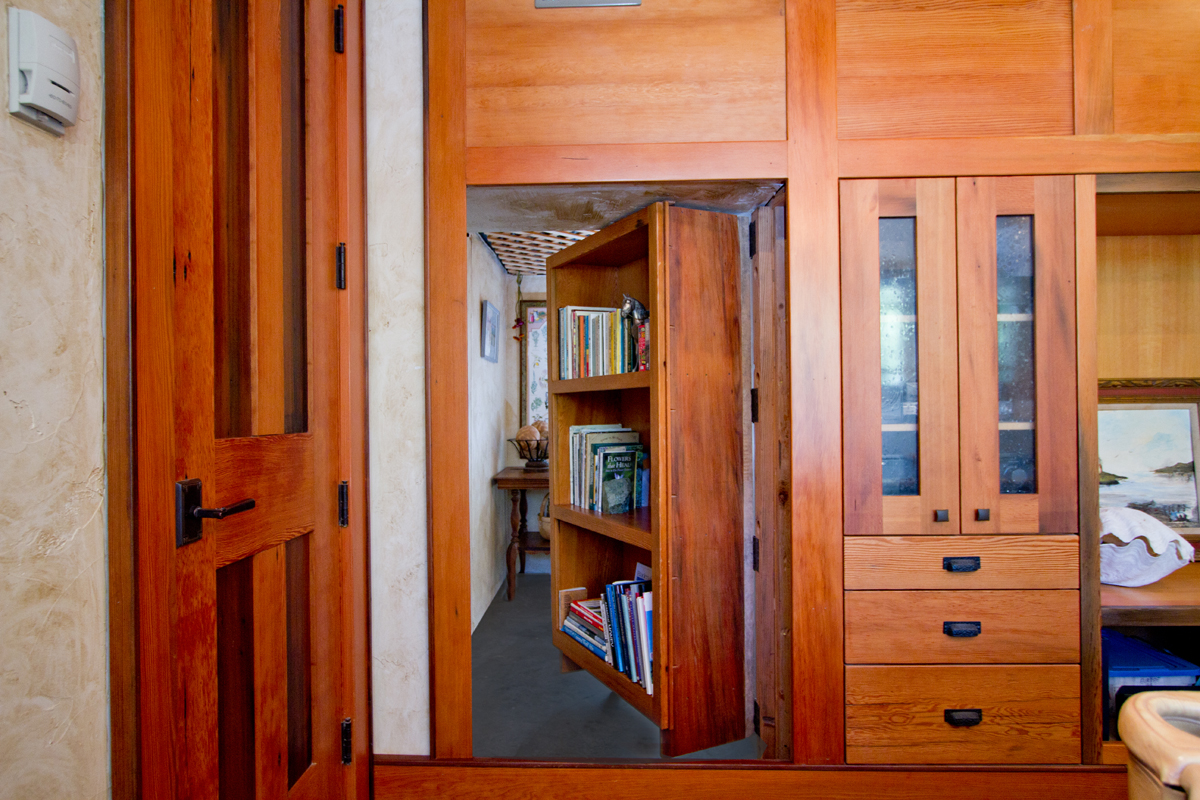 This Swing In Bookshelf Door Opens Up To Reveal A Secret Room