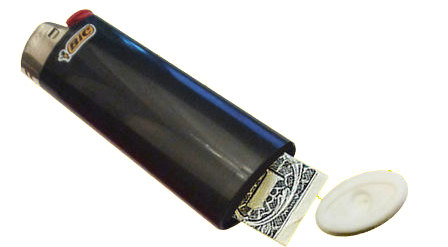 Secret Compartment BIC Lighter