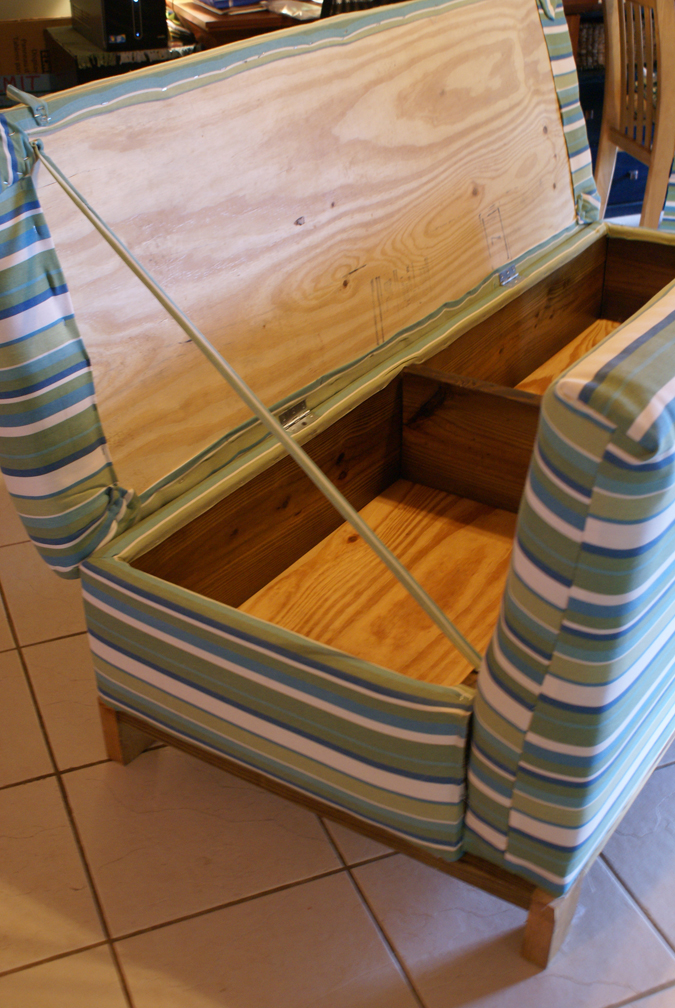 Secret storage couch stashvault for Diy hidden compartment