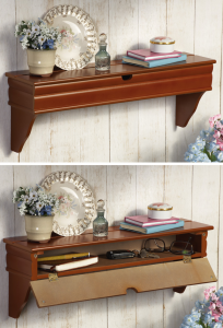 Shelf Contains Hidden Storage