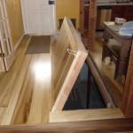 Wooden Trapdoor in Floor to Basement Level