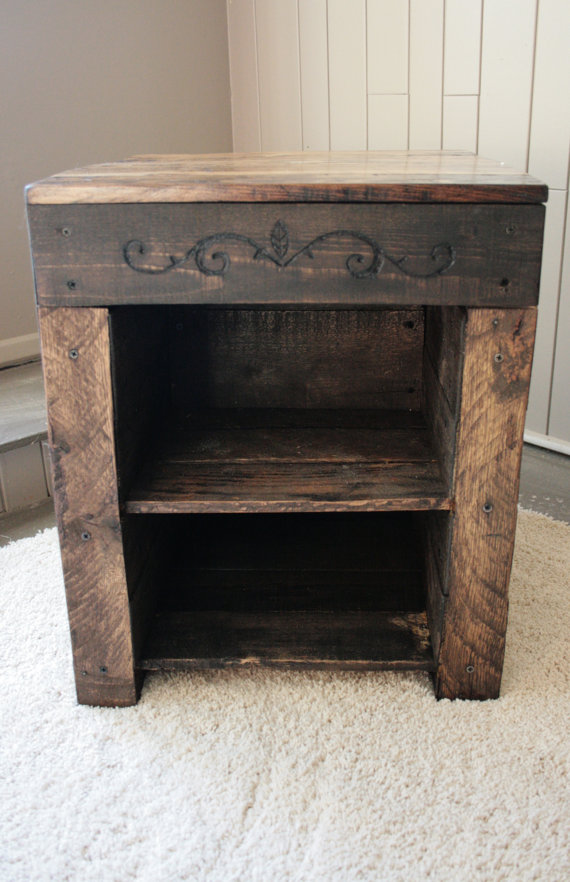 Hidden Compartment Upcycled Table Stashvault