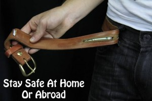 Hidden Zipper Pocket Compartment Belt